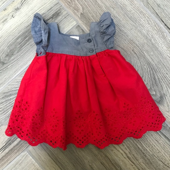 455ca2fd36e GAP Other - 👶🏼 Gap Red Eyelet Dress